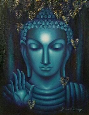 Buddha Face Blue