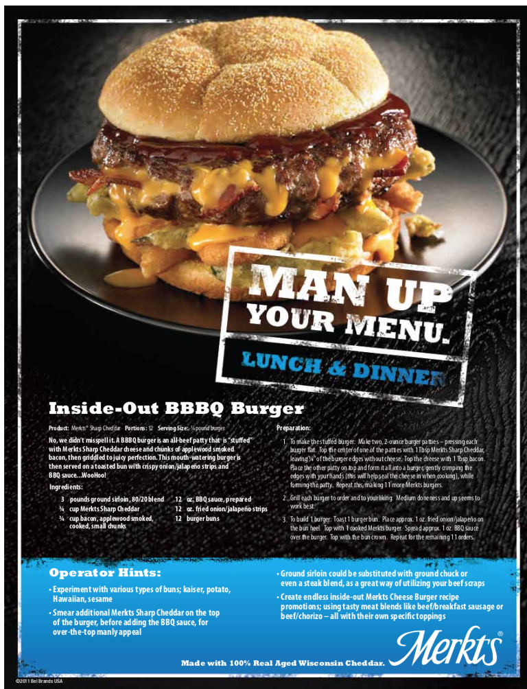 Inside Out BBBQ Burger