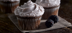 Cabernet Iced Cupcakes