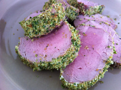 Green Herb Panko Crusted Pork