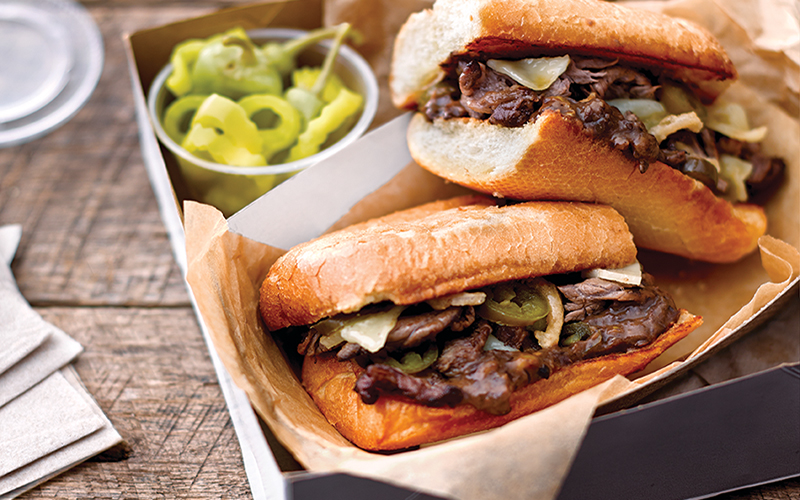 Black Bean & Steak Sandwich