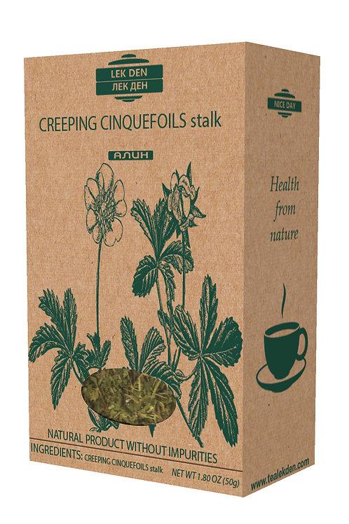 Creeping Cinquefoil stalk