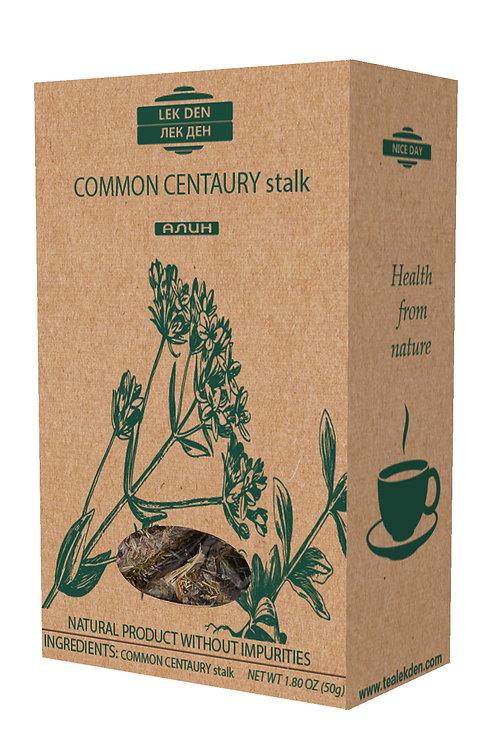 Common Centaury stalk