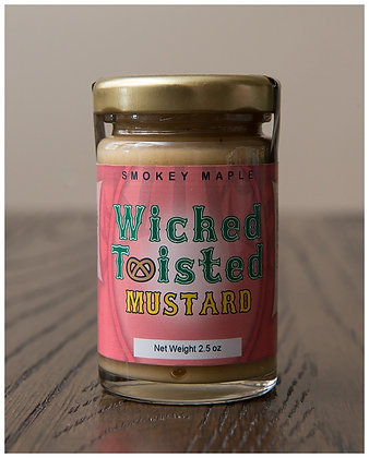 Wicked Twisted Smokey Maple Mustard 2.5 oz