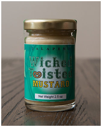 Wicked Twisted Jalapeno Mustard 2.5 oz