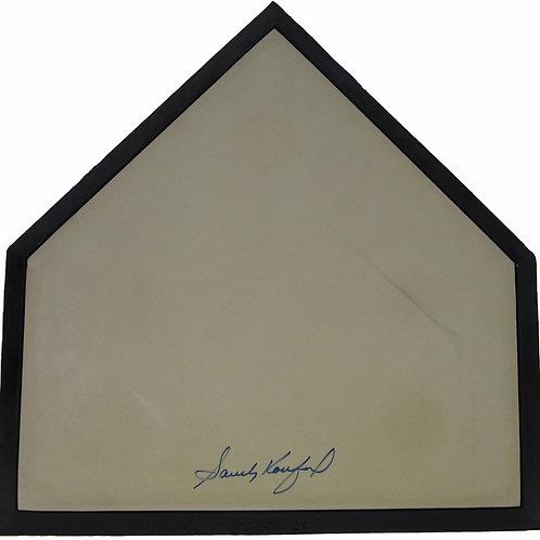 Sandy Koufax Autographed Home Plate