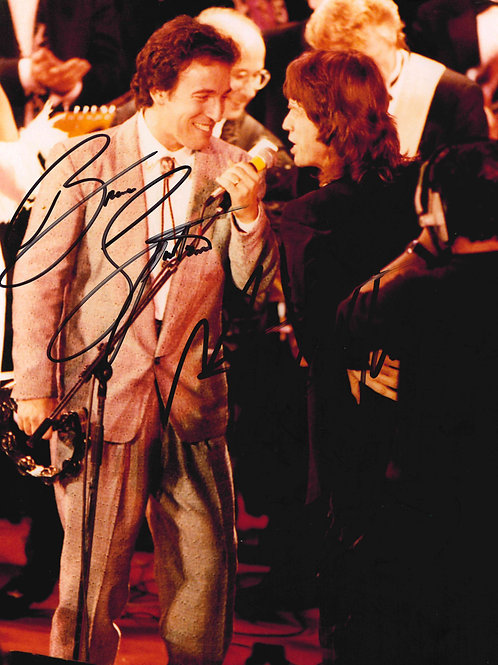 Mick Jagger and Bruce Springsteen Dual Signed Photograph