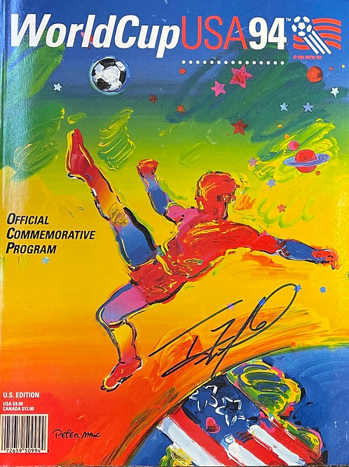 1994 World Cup  Program Autographed by Tony Meola