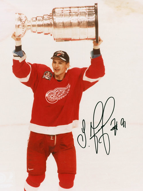 Sergei Fedorov Signed 8x10 Photo - '98 Stanley Cup