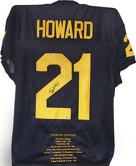 "Desmond Howard Limited Ed. Michigan ""Stats"" Jersey"