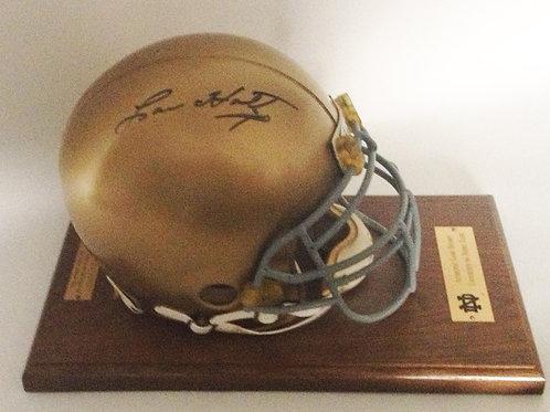 Lou Holtz Signed, Game-Worn Notre Dame Helmet
