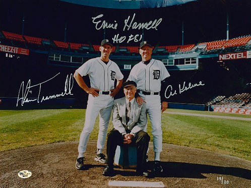 Trammell, Kaline, Harwell - Signed 11x14 Photo