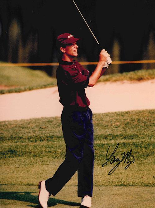 Larry Mize Autographed Photo