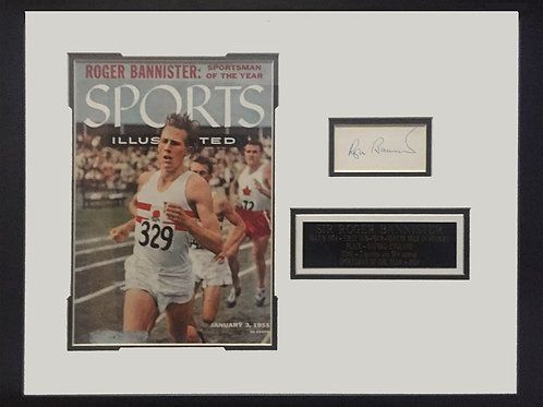 Roger Bannister Sports Illustrated with Autograph
