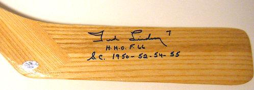 Ted Lindsay Autographed Hockey Stick