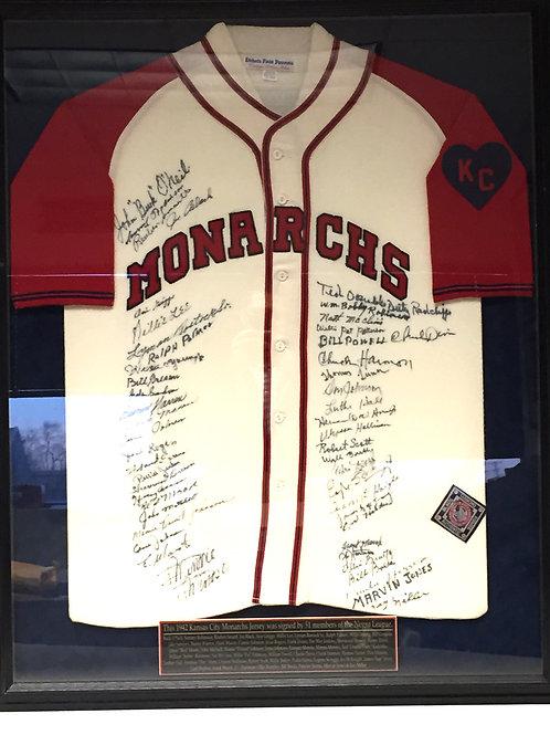 Autographed Kansas City Monarchs Jersey
