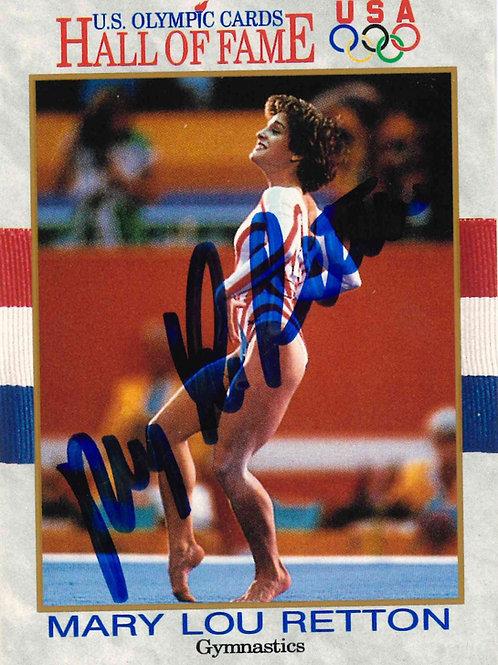 Mary Lou Retton Autographed Olympic HoF Card