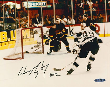 """Wayne Gretzky """"Goal 802"""" -  Signed 8x10 Photo"""