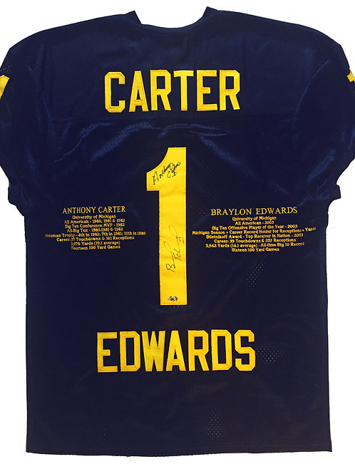 "Carter / Edwards Michigan Limited ""Stats"" Jersey"