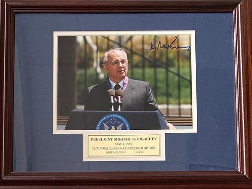 Mikhail Gorbachev Autographed Photo - Framed