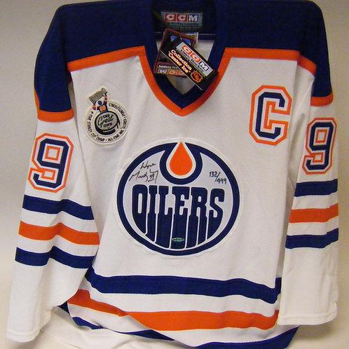Wayne Gretzky Autographed Oilers Jersey