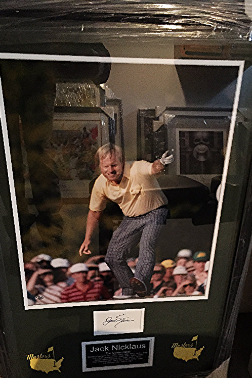 Jack Nicklaus Photo with Cut Autograph