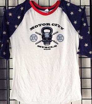 All-American Baseball Shirt with Logo