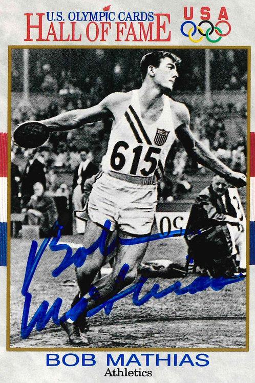 Bob Matthias Autographed HoF Card