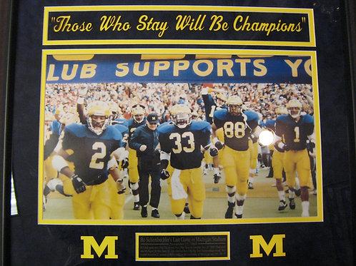 Bo Schembechler's Last Game at Michigan Stadium