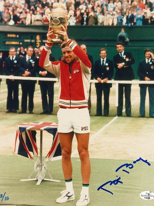 Bjorn Borg - Signed 8x10 Photo - 1980 Wimbledon