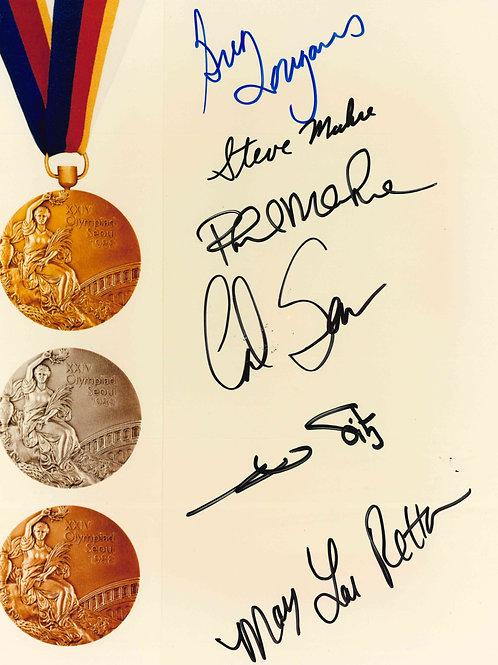 Greg Louganis Steve Phil Marhe Carl Lewis Mary Lou Retton Olympics Autographs