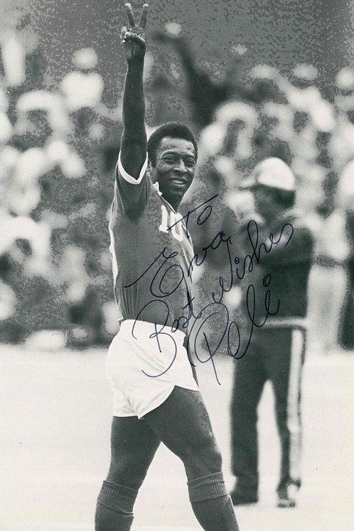 Pele Autographed Photo