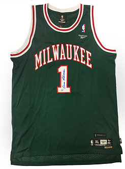 Oscar Robertson Signed Milwaukee Bucks Jersey