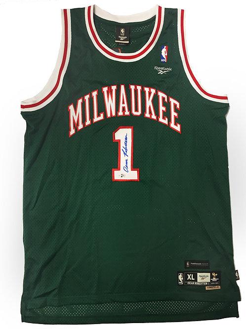 Oscar Robertson Signed Milwaukee Bucks Jersey
