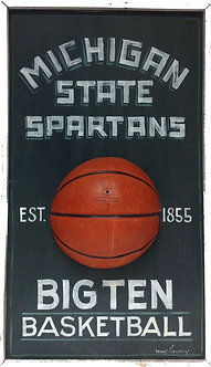 "Michigan State Spartans ""Vintage"" Wooden Sign"