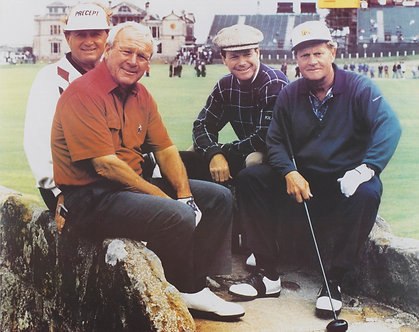 Legends on Swilcan Bridge--St. Andrews, Old Course