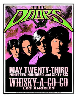 The Doors Whiskey A Go Go Tour Poster