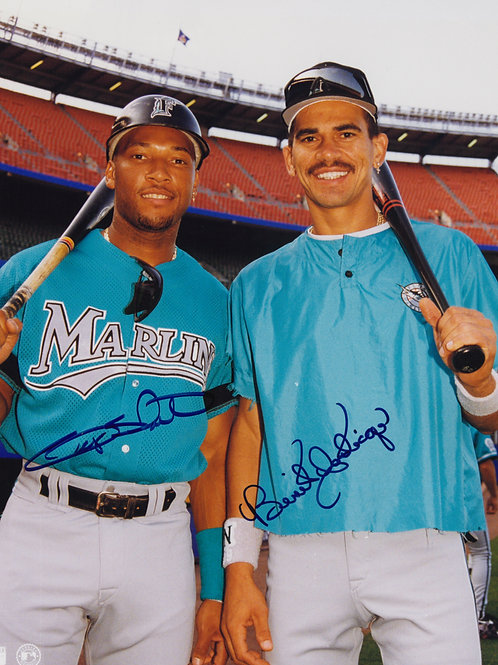 Gary Sheffield and Benito Santiago Dual Autographed Photo