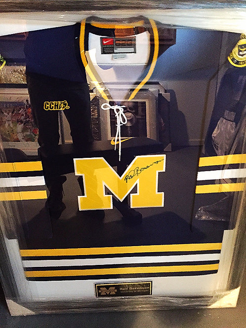 Red Berenson Autographed Michigan Jersey
