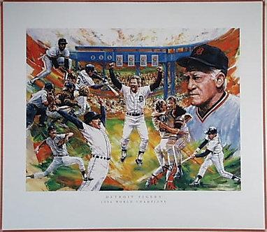 Detroit Tigers 1984 Commemorative Poster