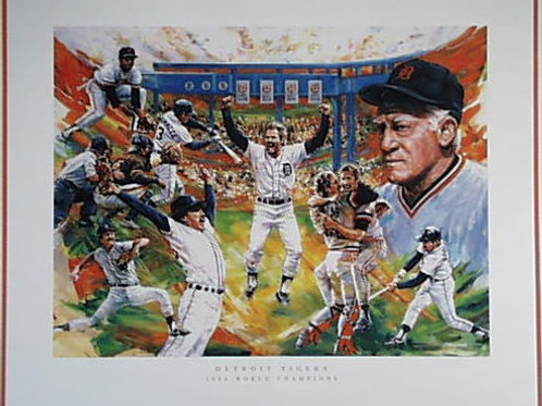 Detroit Tigers 1984 Commemorative Poster
