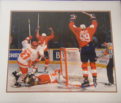 Wayne Gretzky and Mario Lemiux Autographed Photo