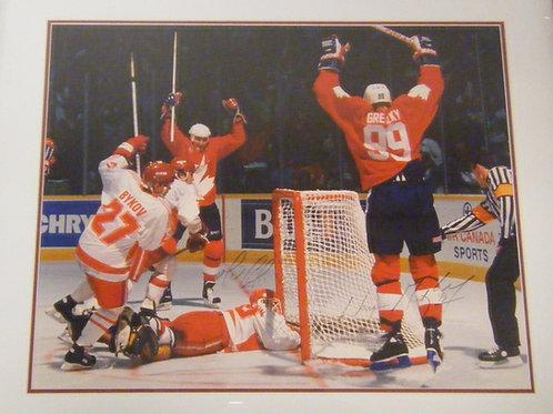 Wayne Gretzky and Mario Lemiux Autographed Photo