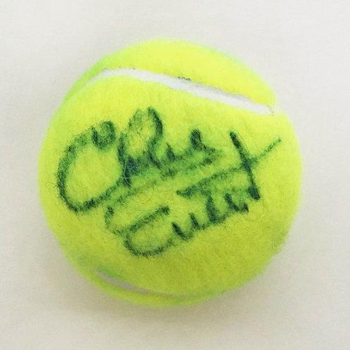 Chris Evert Signed Tennis Ball