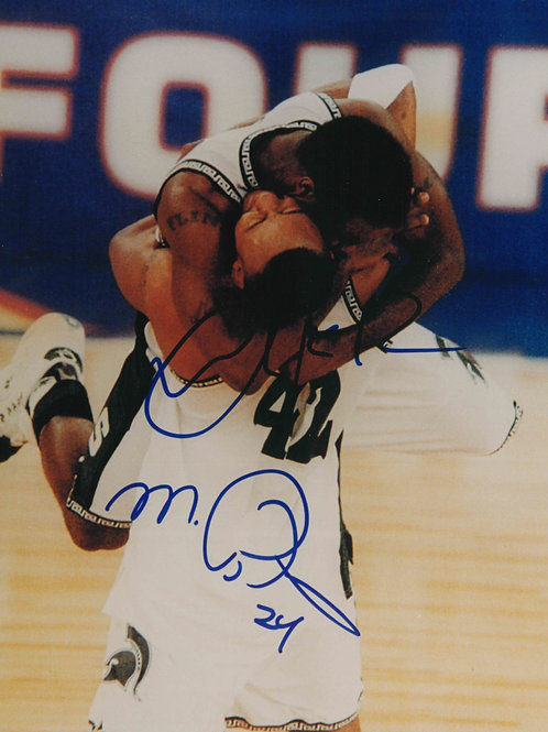 Autographed Morris Peterson and Mateen Cleaves 8x10 Photo