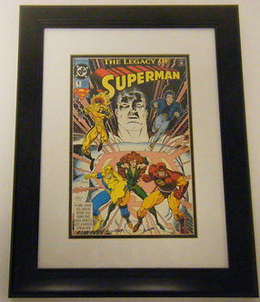 The Legacy of Superman Issue 1 Autographed Framed