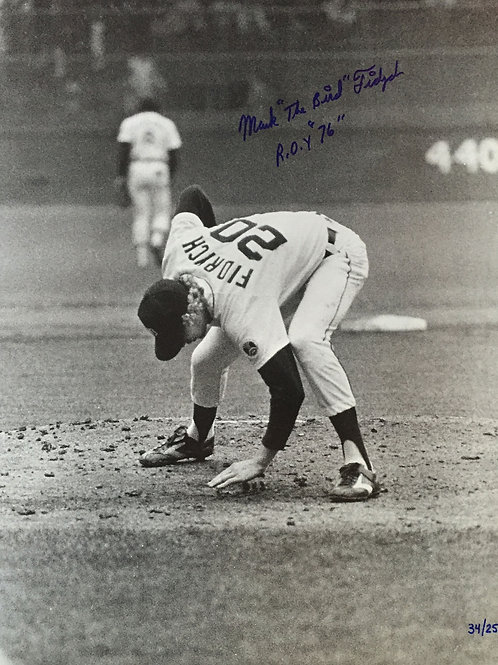 "Mark ""The Bird"" Fidrych Autographed Photo"