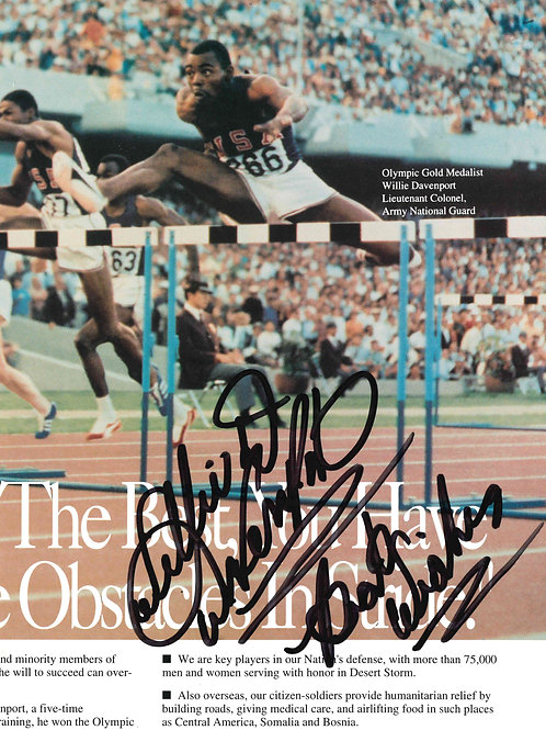 Willie Davenport Autographed Clipping