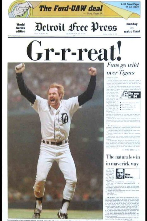 Kirk Gibson Autographed Free Press Poster