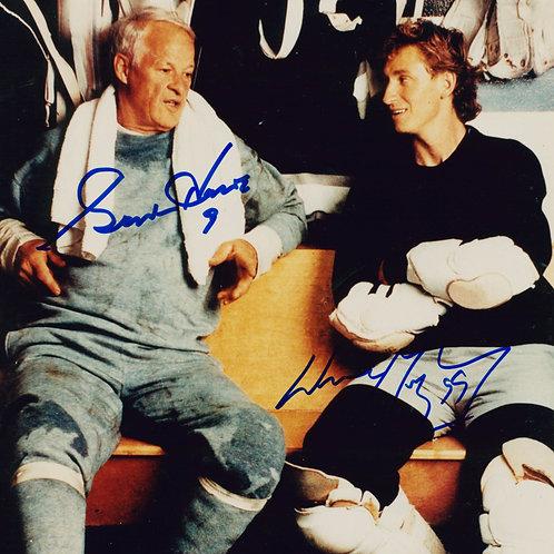 Wayne Gretzky-Gordie Howe Autographed 8x10 Photo